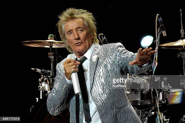 Rod Stewart during the concert of universal music festivalen the Royal Theatre of Madrid on July 5 2016
