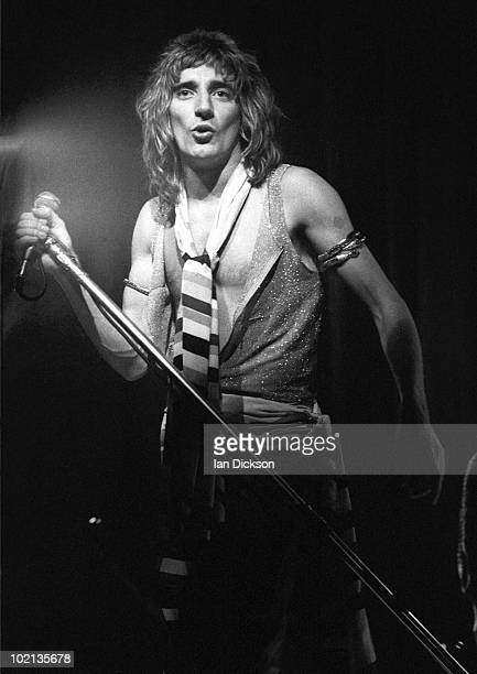 Rod Stewart from The Faces performs live on stage at Edmonton Sundown in London on December 24 1973