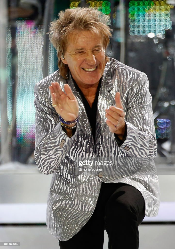 Rod Stewart live on stage at 02 Arena on September 21, 2013 in London, England.
