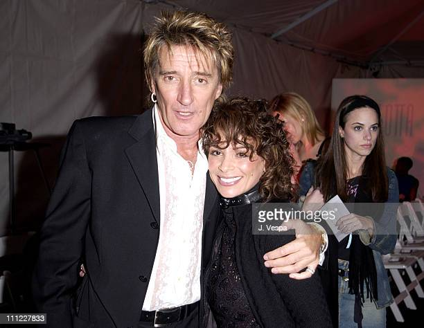 Rod Stewart Paula Abdul during Mercedes Benz Unicef Fashion For Freedom Audience at Chaz Dean Studios in Los Angeles California United States