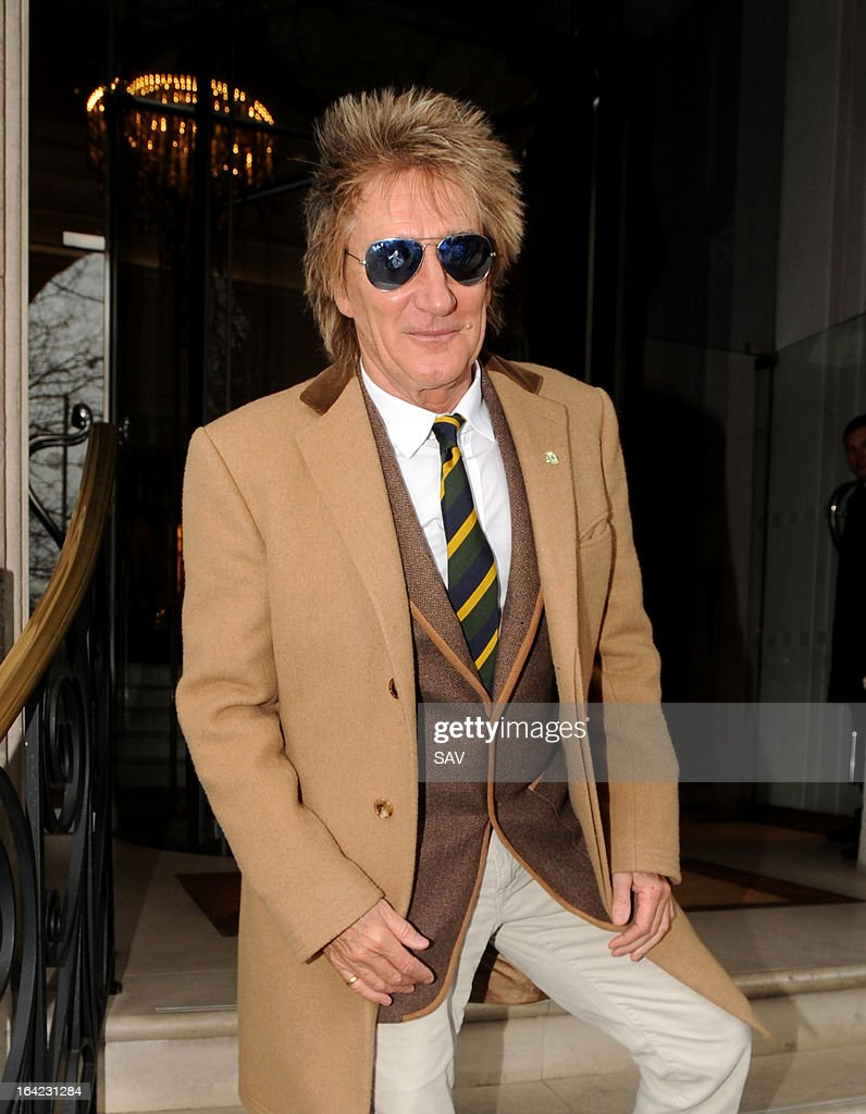 Rod Stewart pictured at Radio 2 on March 21, 2013 in London, England.