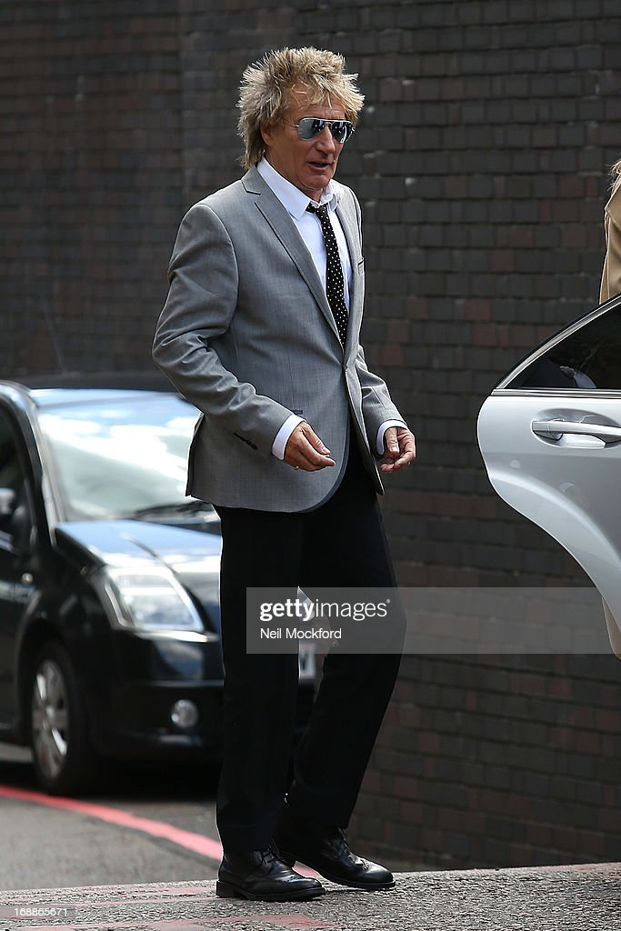 <a gi-track='captionPersonalityLinkClicked' href=/galleries/search?phrase=Rod+Stewart&family=editorial&specificpeople=160467 ng-click='$event.stopPropagation()'>Rod Stewart</a> seen leaving the ITV Studios on May 16, 2013 in London, England.