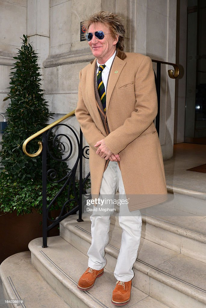 <a gi-track='captionPersonalityLinkClicked' href=/galleries/search?phrase=Rod+Stewart&family=editorial&specificpeople=160467 ng-click='$event.stopPropagation()'>Rod Stewart</a> sighted at BBC Radio and his hotel on March 21, 2013 in London, England.