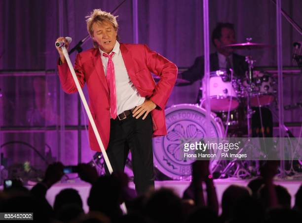 Rod Stewart sings at the Butterfly Ball in Battersea Park London The event by Caudwell Children aims to raise funds for disabled children