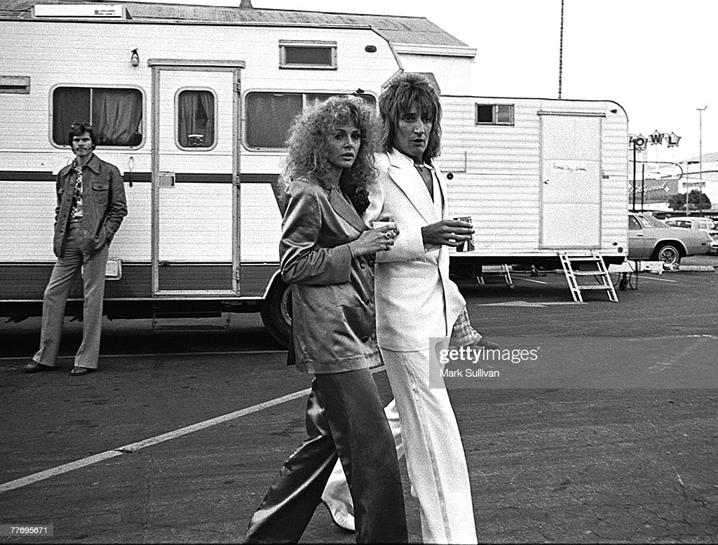 <a gi-track='captionPersonalityLinkClicked' href=/galleries/search?phrase=Rod+Stewart&family=editorial&specificpeople=160467 ng-click='$event.stopPropagation()'>Rod Stewart</a> with Britt Eklund outside Rock Awards at The Hollywood Paladium Hollywood, CA 1976; Various Locations; Mark Sullivan 70's Rock Archive
