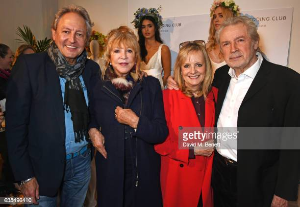 Rod Weston Pattie Boyd Twiggy and Leigh Lawson attend a VIP preview of the new bridal collection by Savannah Miller on February 15 2017 in London...
