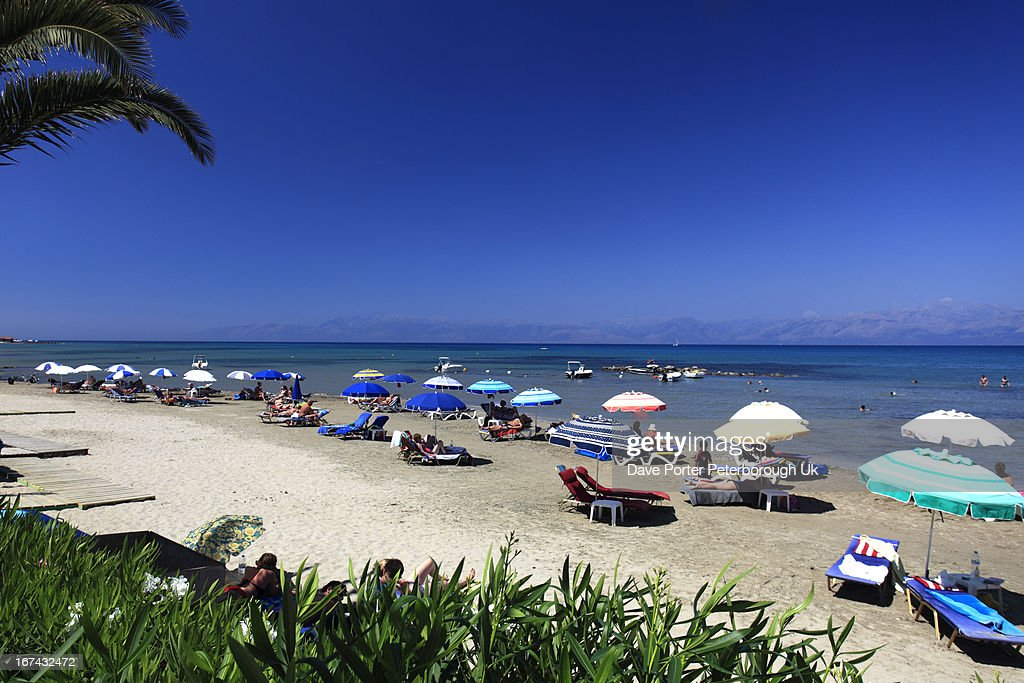 Roda resort beach, Corfu : Stock Photo