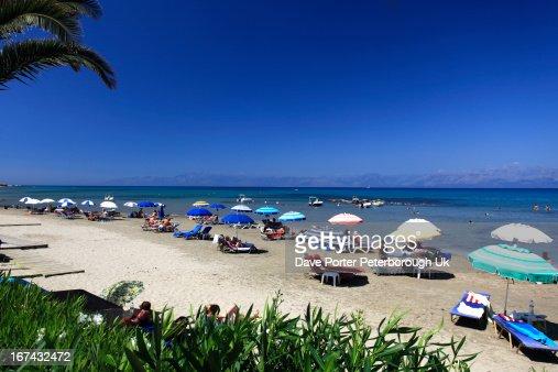 Roda resort beach, Corfu : Stock Photo