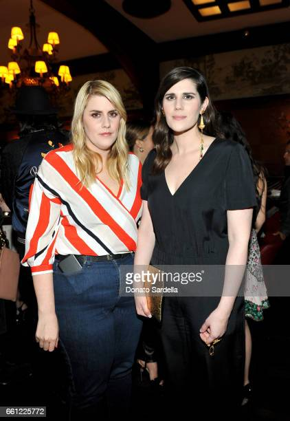 Rodarte CoFounders Kate Mulleavy and Laura Mulleavy attend the Coach Rodarte celebration for their Spring 2017 Collaboration at Musso Frank on March...
