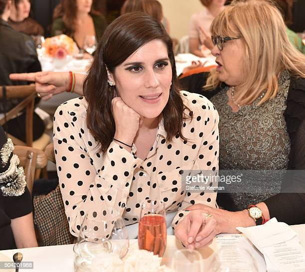 Rodarte founder Laura Mulleavy attends W Magazine's It Girl luncheon in partnership with Coach and Moet Chandon at AOC on January 9 2016 in Los...