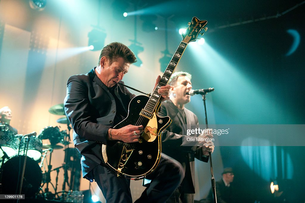 Roddy Byers and Terry Hall of The Specials perform onstage at Nottingham Capital FM Arena on October 21, 2011 in Nottingham, United Kingdom.