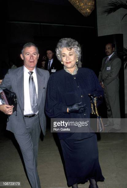 Roddy McDowall and Joan Plowright during 65th Annual Academy Awards Nominee's Lunch at Beverly Hilton Hotel in Beverly Hills California United States