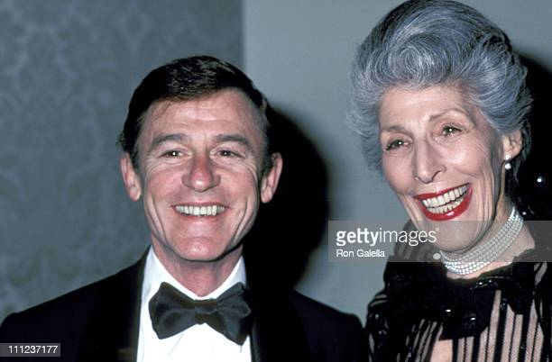 Roddy McDowall and Olive Behrent during Danny Kaye Tribute at Hilton Hotel in Beverly Hills California United States