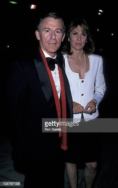 Roddy McDowall and Stefanie Powers during 'Passion Party' September 28 1989 at Los Angeles Equestrian Center in Los Angeles California United States