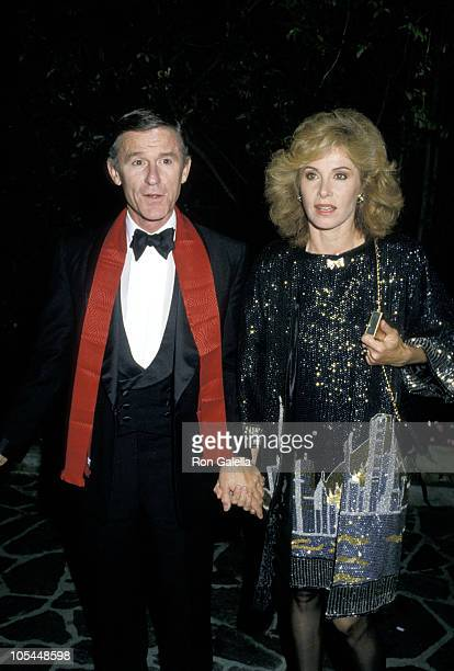 Roddy McDowall and Stefanie Powers during 'Passion' Perfume Party at Robert Hughes' Home in Los Angeles California United States