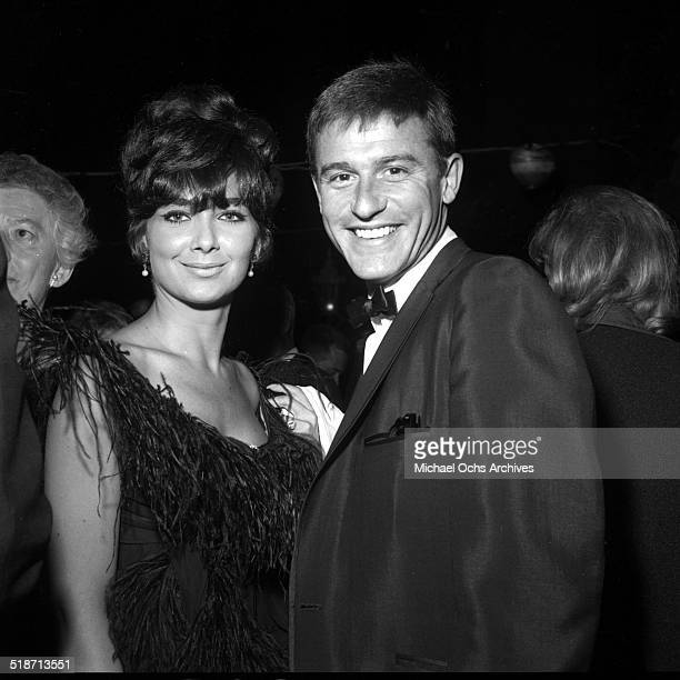 Roddy McDowall and Suzanne Pleshette attend a party in Los AngelesCA