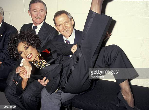 Roddy McDowall Eartha Kitt and Tony Randall during 1993 National Board of Review's DW Griffith Awards at Equitable Center in New York City New York...