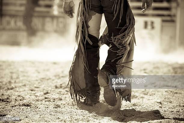 Cow-boy de rodéo dans le Montana