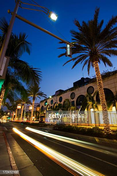 Rodeo Drive, Beverly Hills, Long Exposure