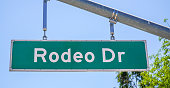 Rodeo Drive street sign in Beverly Hills - LOS ANGELES - CALIFORNIA