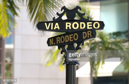 rodeo drive the famous shopping street in California