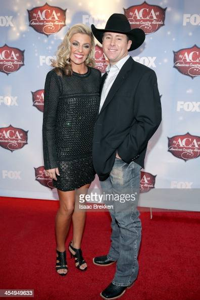 Rodeo rider Trevor Brazile and Shada Brazile arrive at the American Country Awards 2013 at the Mandalay Bay Events Center on December 10 2013 in Las...