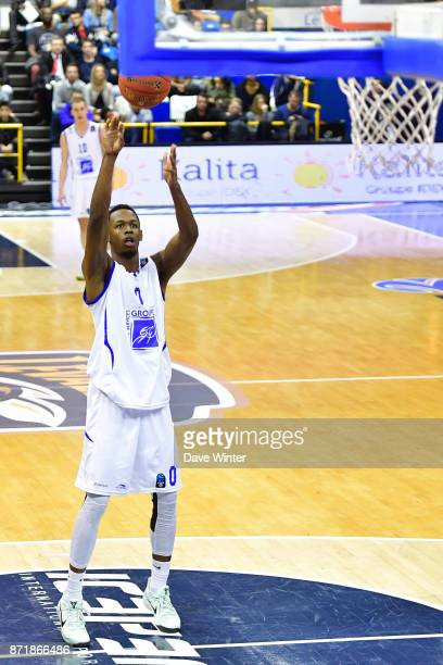 Roderick Odom of Levallois during the EuropCup match between Levallois Metropolitans and Cedevita Zagreb at Salle Marcel Cerdan on November 8 2017 in...