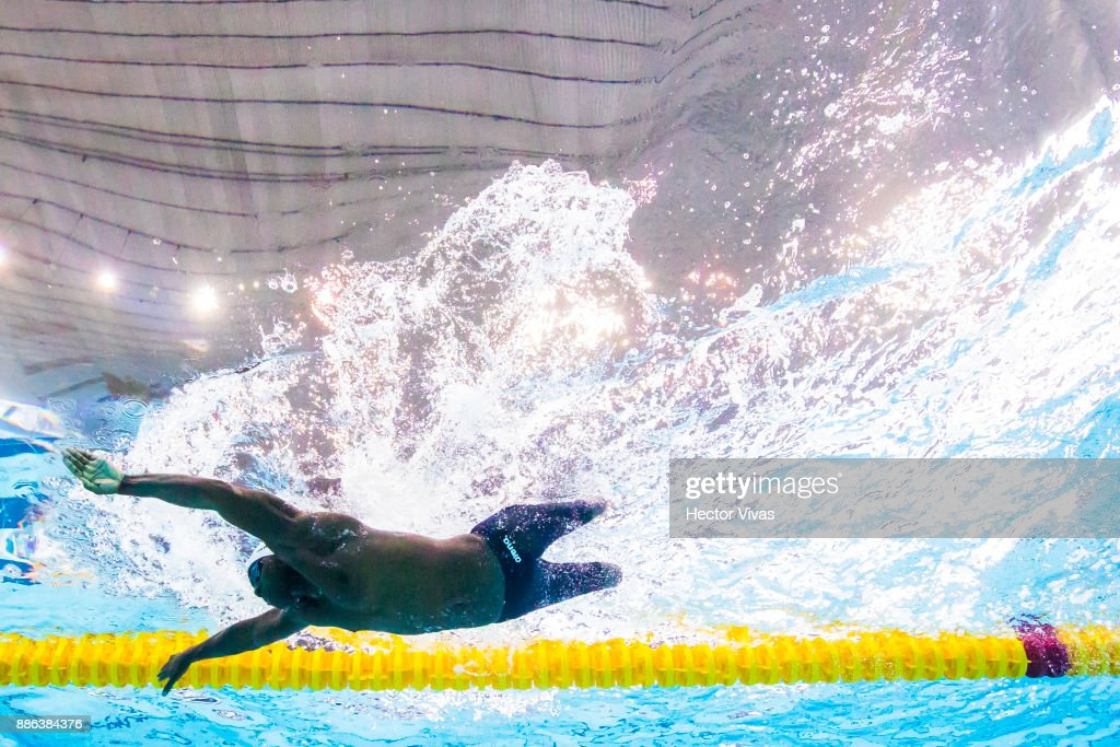roderick sewell of united states competes in mens 100 m breaststroke sb6 during day 2 of