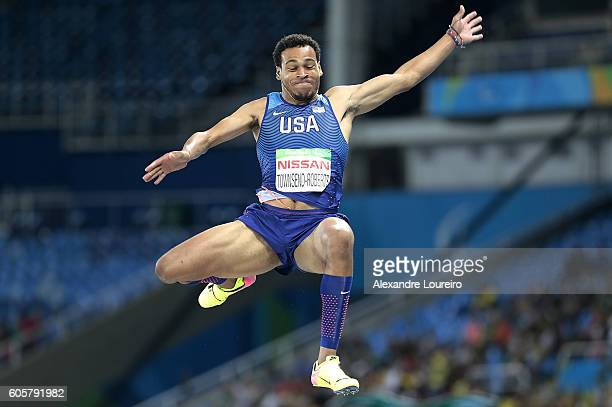 Roderick TownsendRoberts of United States competes during the Men's Long Jump T47 final at Olympic Stadium on day 7 of the Rio 2016 Paralympic Games...