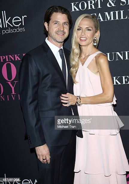 Rodger Berman and Rachel Zoe arrive at the 10th Annual Pink Party held at Santa Monica Airport on October 18 2014 in Santa Monica California