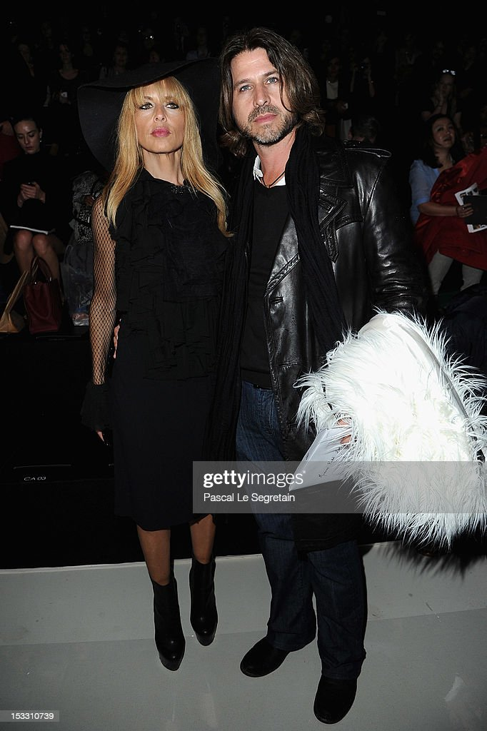 Rodger Berman (R) and <a gi-track='captionPersonalityLinkClicked' href=/galleries/search?phrase=Rachel+Zoe+-+Stylist&family=editorial&specificpeople=546501 ng-click='$event.stopPropagation()'>Rachel Zoe</a> attend Elie Saab Spring/Summer 2013 show as part of Paris Fashion Week at Espace Ephemere Tuileries on October 3, 2012 in Paris, France.