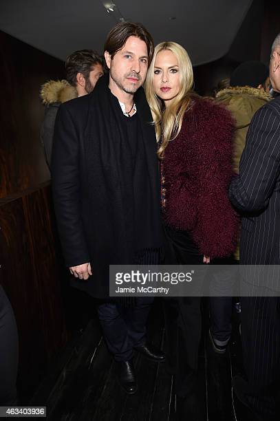 Rodger Berman and Rachel Zoe attend FENDI celebrates the opening of the New York flagship store on February 13 2015 in New York City