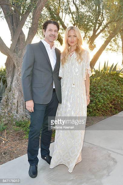 Rodger Berman and Rachel Zoe attend NETAPORTER celebrates Rachel Zoe capsule collection on July 13 2016 in Los Angeles California