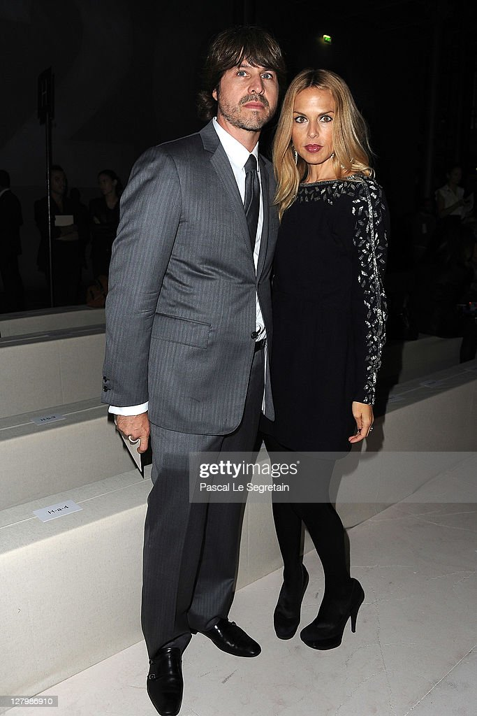 Rodger Berman and <a gi-track='captionPersonalityLinkClicked' href=/galleries/search?phrase=Rachel+Zoe+-+Stylist&family=editorial&specificpeople=546501 ng-click='$event.stopPropagation()'>Rachel Zoe</a> attend the Alexander McQueen Ready to Wear Spring / Summer 2012 show during Paris Fashion Week on October 4, 2011 in Paris, France.