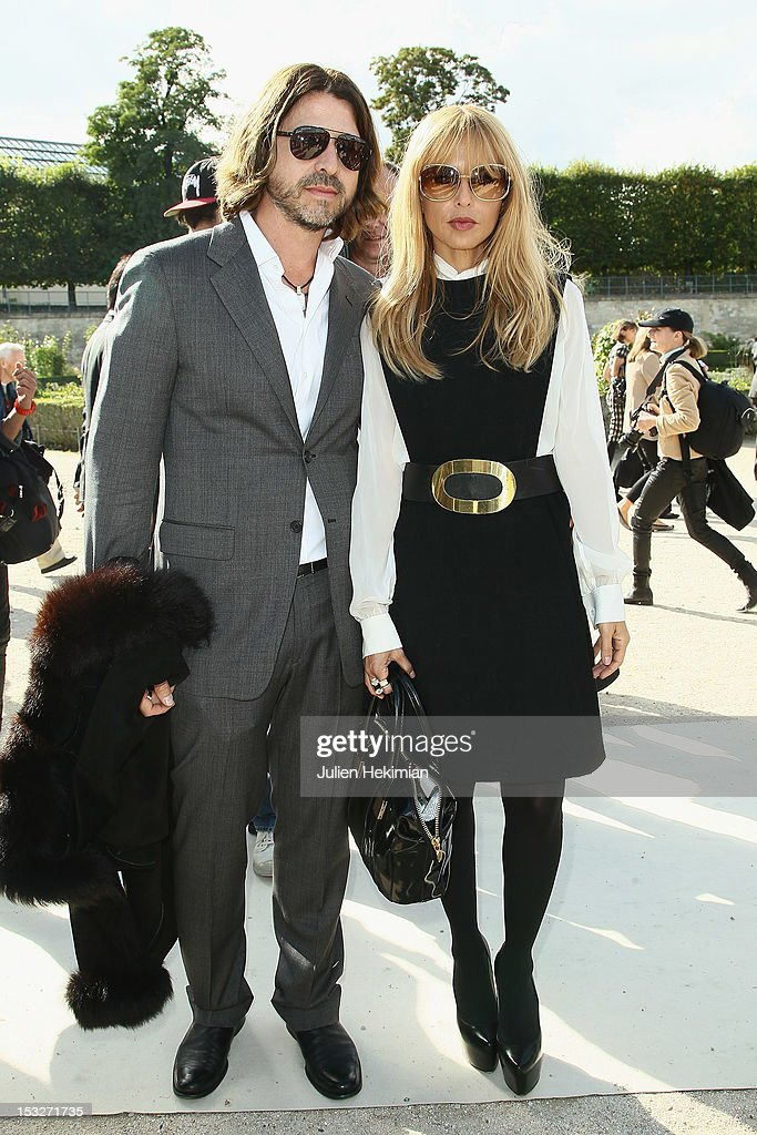 Rodger Berman and Rachel Zoe attend the Valentino Spring / Summer 2013 show as part of Paris Fashion Week at Espace Ephemere Tuileries on October 2, 2012 in Paris, France.