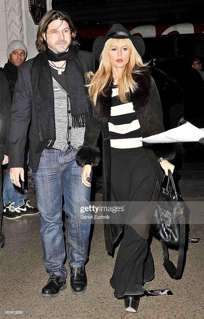 Rodger Berman and Rachel Zoe seen arriving to the Oscar de la Renta show on February 12, 2013 in New York City.