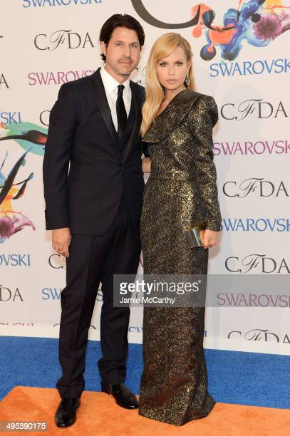 Rodger Berman aned Rachel Zoe attend the 2014 CFDA fashion awards at Alice Tully Hall Lincoln Center on June 2 2014 in New York City