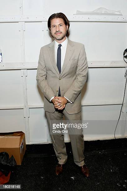 Rodger Berman poses backstage at the Rachel Zoe fashion show during MercedesBenz Fashion Week Spring 2014 at The Studio at Lincoln Center on...