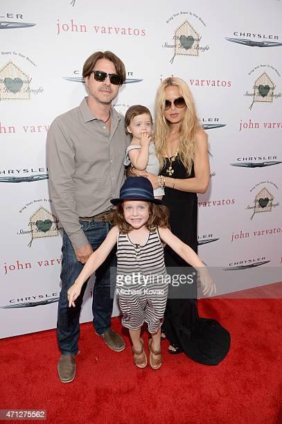 Rodger Berman Skyler Berman Kaius Berman and stylist Rachel Zoe attend Chrysler John Varvatos 12th Annual Stuart House Benefit at John Varvatos on...