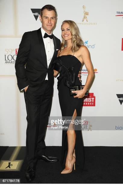 Rodger Corser and Renae Berry arrives at the 59th Annual Logie Awards at Crown Palladium on April 23 2017 in Melbourne Australia
