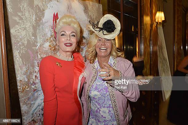 Rodica Paleologue Von Buta and Fiona Gelin attend the Hotel Westminster Shop Window Unveiling on September 23 2015 in Paris France