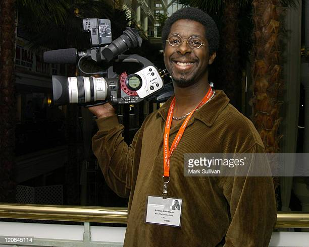 Rodney Allen Rippy working as cameraman for KABCTV at the American Film Market
