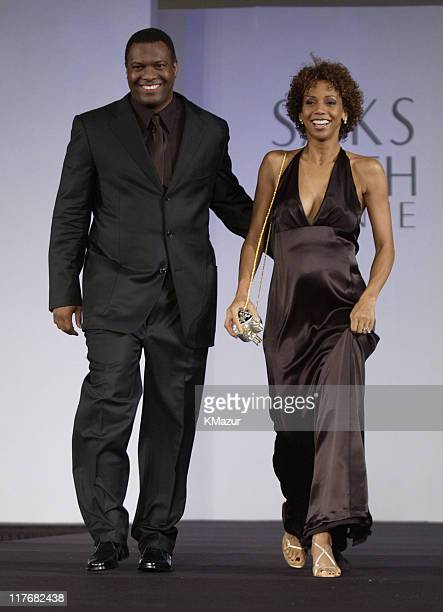 Rodney and Holly Robinson Peete during Super Bowl XXXVI Gridiron Glamour Celebrity Fashion Show Featuring Niki Taylor at The Sheraton Hotel in New...