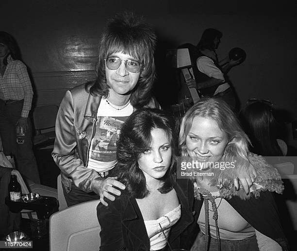 Rodney Bingenheimer and Star Magazine cover girl Patty Clark circa 1977 in Los Angeles California **EXCLUSIVE**