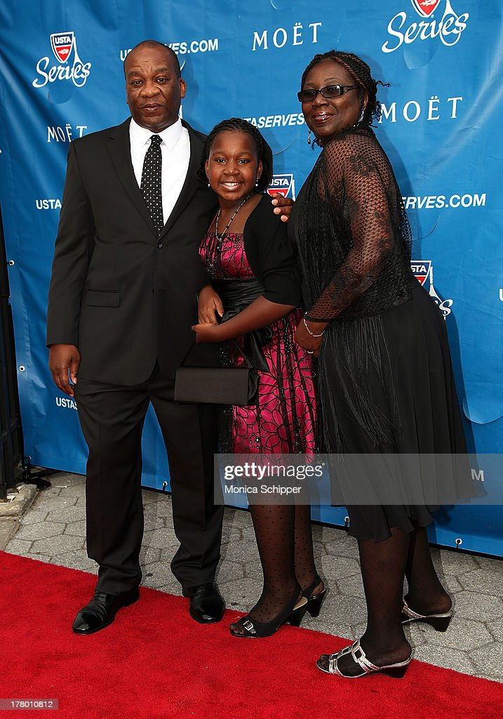 Rodney Bowden, Destiny Steward-Bowden and Lisa Steward-Bowden attend the 13th Annual USTA Serves Opening Night Gala at USTA Billie Jean King National Tennis Center on August 26, 2013 in New York City.
