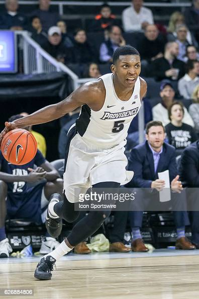Rodney Bullock for Providence College drives to the basket during the game between the Providence College Friars and the University of New Hampshire...