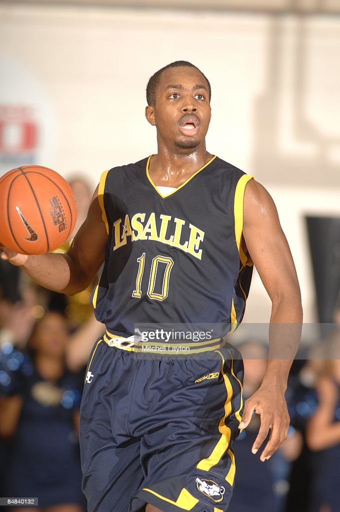 Rodney Green of the La Salle Explores dribbles up court during a college basketball game against the George Washington Colonials on February 11 2009...