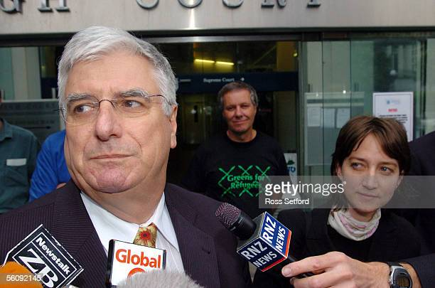 FRP108699 Rodney Harrison QC left and Deborah Manning outside the Supreme Court Wellington New Zealand Thursday December 09 2004 after it was...