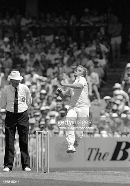 Rodney Hogg bowling 4th Test Australia v England Melbourne 1982