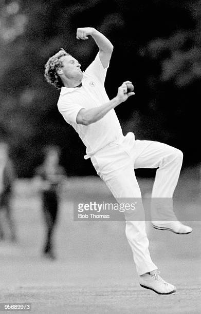 Rodney Hogg bowling for Australia against New Zealand in a friendly cricket match held in Arundel England on 4th June 1983